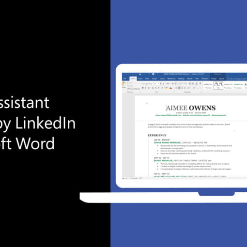 Microsoft word showing on a laptop screen with text on left