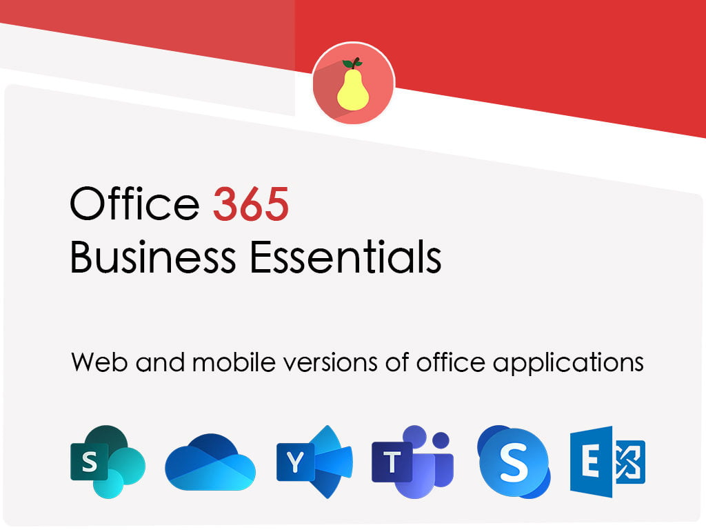 What Microsoft Office 365 Business Essentials includes