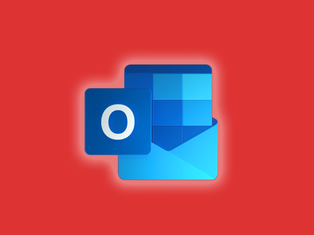 Microsoft outlook icon on an orange background