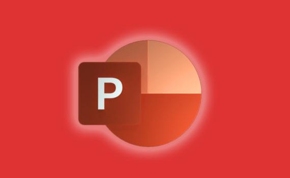 Microsoft Powerpoint icon on an orange background
